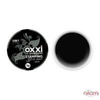 Гель-краска для стемпинга Oxxi Professional № 01, цвет черный, 5 г