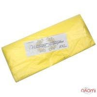 Пеньюар одноразовый полиэтиленовый с антистатиком, цвет желтый, 100 шт.