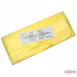 Пеньюар одноразовий поліетиленовий з антистатиком, колір жовтий, 100 шт.