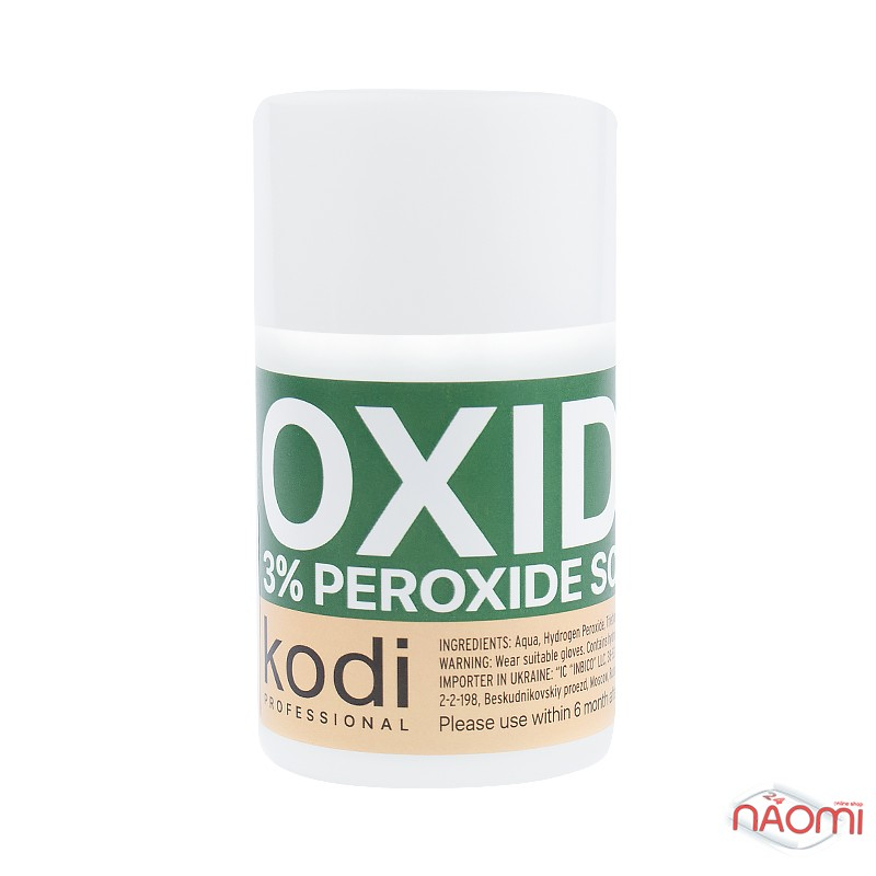 Окислитель жидкий 3% Kodi professional для краски для бровей и ресниц, 100 мл, фото 1, 125.00 грн.