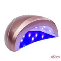 УФ LED лампа светодиодная Sun One 48 Вт и 24 Вт, таймер 5, 30 и 60 сек, цвет розовая бронза