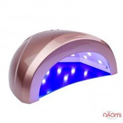 УФ LED лампа світлодіодна Sun One 48 Вт і 24 Вт, таймер 5, 30 і 60 сек, колір рожева бронза