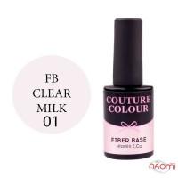 База для гель-лаку Couture Colour Revital Fiber Base FB 01 Clear Milk, 9 мл