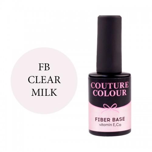База для гель-лака Couture Colour Revital Fiber Base Clear Milk, 9 мл, фото 1, 165.00 грн.