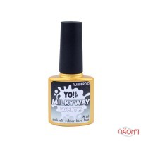База камуфлююча каучукова для гель-лаку Yo Nails RubberOid Milkyway WHITE, 8 мл