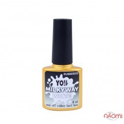 База камуфлююча каучукова для гель-лаку Yo Nails RubberOid Milkyway WHITE, 8 мл
