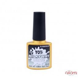 База камуфлирующая каучуковая для гель-лака Yo Nails RubberOid Milkyway WHITE, 8 мл