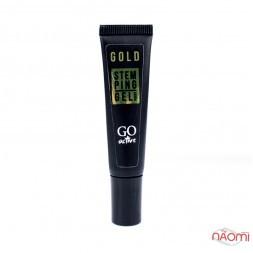 Гель-фарба для стемпінга GO Active 2в1 Stamping Gel Gold, колір золото, 8 мл