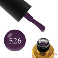 Гель-лак F.O.X City Chic 526 фиолетовое бордо, 6 мл