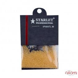 Бульонки для прикрашання нігтів Starlet Professional, скляні, колір охра, в пакеті, 8 г