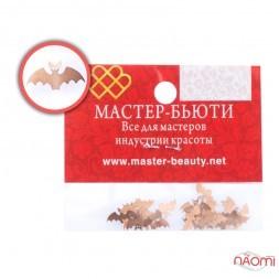 Металлические логотипы, Летучая мышь, цвет черный, 25 шт