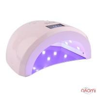 УФ LED лампа SUN 1s, 48 Вт, таймер 10,30,60,99 сек, с дисплеем, цвет розовый