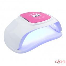 УФ LED лампа светодиодная Sun Plus 72 Вт на две руки, таймер 10, 30, 60 и 99 сек, цвет белый