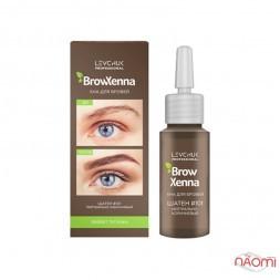 Хна для бровей BrowXenna Шатен 101 Нейтрально-коричневый, флакон, 10 мл