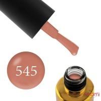Гель-лак F.O.X Pumpkin 545 розовый кофе, с перламутром, 12 мл