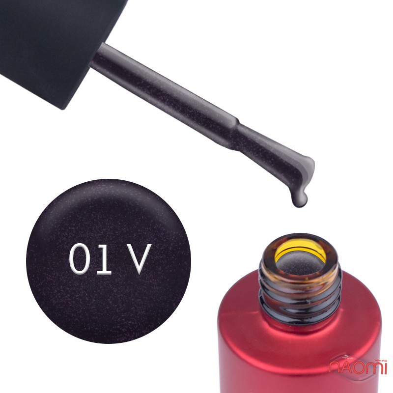 Гель-лак Kodi Professional Violet V 001 баклажановый, с шиммерами, 7 мл, фото 1, 120.00 грн.