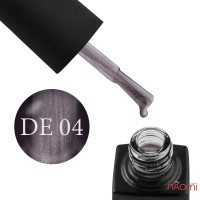 Гель-лак GO Active Dragon Eye 04 коричневый графит с пепельным бликом, 10 мл