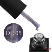Гель-лак GO Active Dragon Eye 05 графит с сине-лиловыми блестками и серебряным бликом, 10 мл