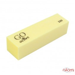 Баф-брусок GO ACTIVE 220/220, цвет желтый