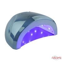 УФ LED лампа светодиодная Sun One Mirror Blue 48 Вт и 24 Вт, таймер 5, 30, 60 сек, зеркально-голубая