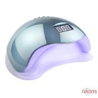 УФ LED лампа светодиодная Sun 5 Mirror Blue 48 Вт, таймер 10, 30, 60, 99 сек, цвет зеркально-голубой