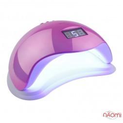 УФ LED лампа светодиодная Sun 5 Mirror Pink 48 Вт, таймер 10, 30, 60, 99 сек, цвет зеркально-розовый