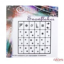 Трафарети-наклейки для nail-art 304 Snowflakes Сніжинки