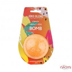Бомбочка-гейзер для ванни Joko Blend Crazy About You з олійкою абрикосової кісточки і м'яти, 200 г