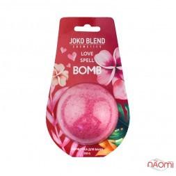 Бомбочка-гейзер для ванни Joko Blend Love Spell з олійкою зародків пшениці і олійкою лаванди, 200 г