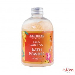 Пудра вируюча для ванни Joko Blend Crazy About You з олійкою абрикосової кісточки і м'яти, 200 г