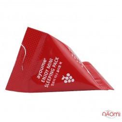 Нічна маска для обличчя Ayoume Enjoy Mini Sleeping Pack антивікова з червоним вином, 3 г