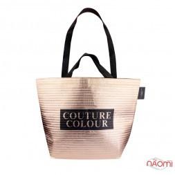 Сумка фірмова Couture Colour, 47x34x17,5 см, колір рожеве золото