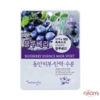 Маска для обличчя тканинна Natureby Blueberry Essence Mask Sheet з екстрактом чорниці, 23 мл