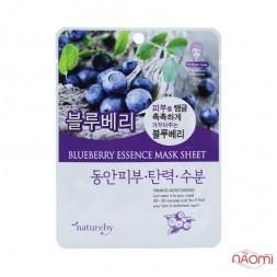 Маска для лица тканевая Natureby Blueberry Essence Mask Sheet с экстрактом голубики, 23 мл