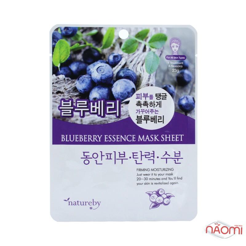 Маска для лица тканевая Natureby Blueberry Essence Mask Sheet с экстрактом голубики, 23 мл, фото 1, 20.00 грн.