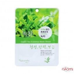 Маска для лица тканевая Natureby Green Tea Essence Mask Sheet с зеленым чаем, 23 мл
