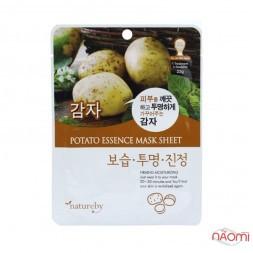 Маска для обличчя тканинна Natureby Potato Essence Mask Sheet з екстрактом картоплі, 23 мл