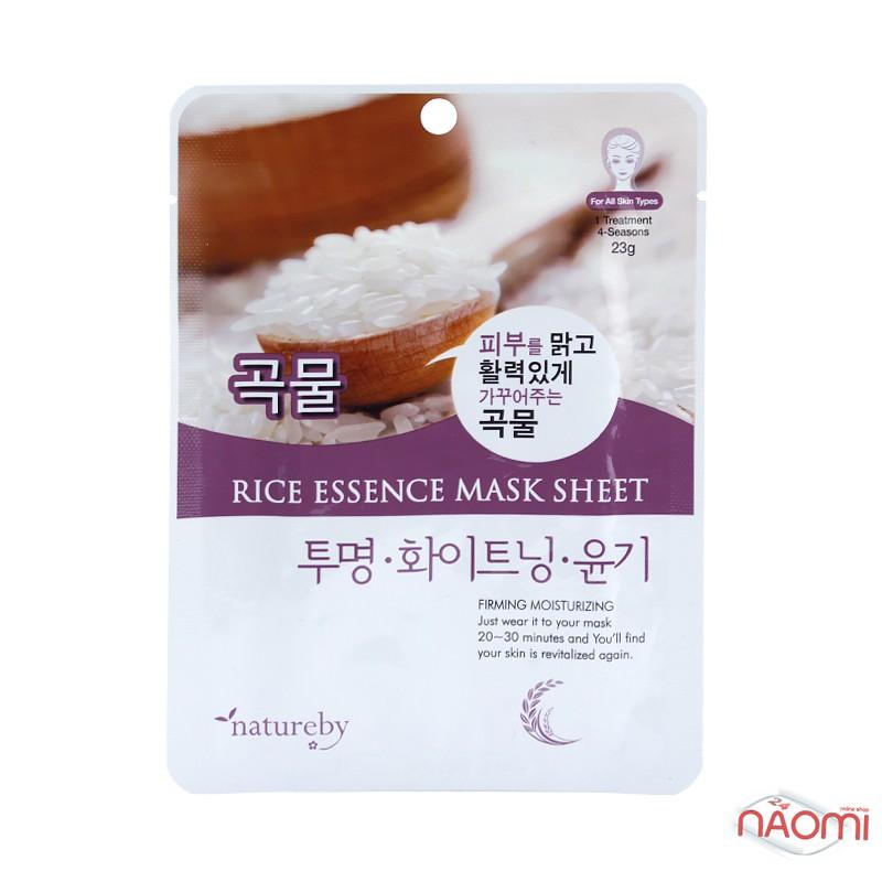 Маска для лица тканевая Natureby Rice Essence Mask Sheet с экстрактом риса, 23 мл, фото 1, 20.00 грн.