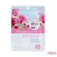 Маска для лица тканевая Natureby Rose Essence Mask Sheet с розой, 23 мл