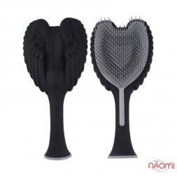 Расческа Tangle Angel 2.0 Soft Touch Black, цвет матовый черный, 19 см