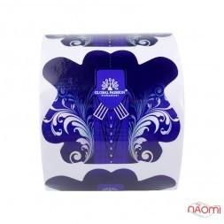 Формы для наращивания ногтей Global Fashion Цветок, синие голографические, 300 шт.