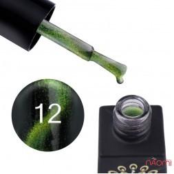 Гель-лак Global Fashion 24D Magic Cat Eye 12 салатово-зелений, 8 мл