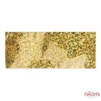 Фольга для ногтей переводная, для литья, gold, кружочки L= 1 м ширина  4 см