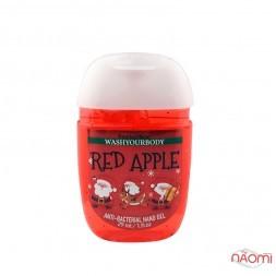 Санитайзер Washyourbody PocketBac Red Apple, красное яблоко, 29 мл