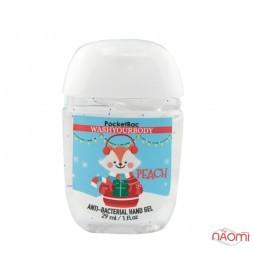 Санитайзер Washyourbody PocketBac Peach, сладкий персик, 29 мл