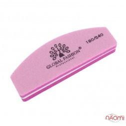 Бафик Global Fashion 180/240, полукруг, цвет розовый