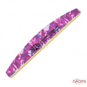 Пилка-баф для нігтів Global Fashion 180/240, півколо, колір в асортименті