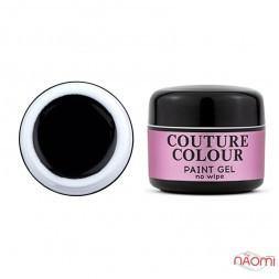Гель-фарба без липкого шару Couture Colour Paint Gel No Wipe Black, колір чорний, 5 г