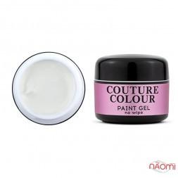 Гель-фарба без липкого шару Couture Colour Paint Gel No Wipe White, колір білий, 5 г