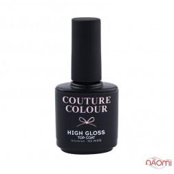 Топ для гель-лаку без липкого шару Couture Colour High Gloss Top Coat Universal No Wipe, 15 мл